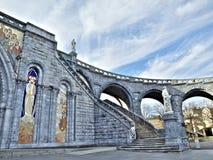 Basilica di Lourdes fotografia stock