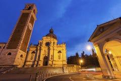 Basilica di Monte Berico在威岑扎 库存照片
