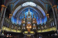 Basilica di Montreal Notre Dame Fotografie Stock Libere da Diritti