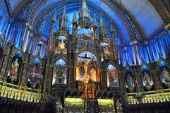 Basilica di Montreal Notre Dame Fotografia Stock