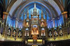 Basilica di Montreal Notre Dame Fotografia Stock Libera da Diritti