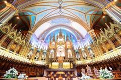 Basilica di Montreal Notre-Dame Fotografia Stock Libera da Diritti