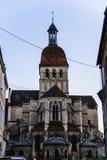 Basilica di Notre-Dame de Beaune, Francia Fotografia Stock Libera da Diritti