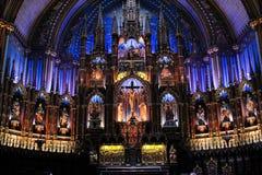 Basilica di Notre-Dame di Montreal Fotografia Stock Libera da Diritti