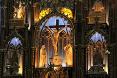 Basilica di Notre-Dame di Montreal Immagine Stock