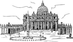 basilica di pietro san Arkivfoton