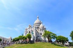 Basilica di Sacre-Coeur su Montmartre, Parigi Immagini Stock Libere da Diritti
