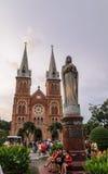 Basilica di Saigon Notre-Dame Fotografie Stock Libere da Diritti
