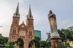 Basilica di Saigon Notre-Dame Immagine Stock
