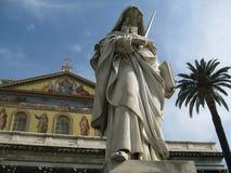 Basilica di Saint Paul fuori della parete Roma Italia Fotografia Stock