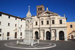 The Basilica di San Bartolomeo in Rome Royalty Free Stock Photography