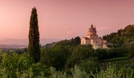Basilica di San Biagio, Tuscany, Italien Royaltyfri Bild