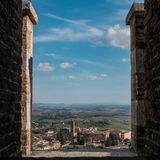 Basilica di San Clemente in dei Servi, Siena, Italia di Santa Maria Fotografie Stock Libere da Diritti