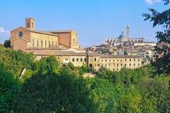 Basilica Di SAN Domenico και το Duomo - η Σιένα Στοκ φωτογραφίες με δικαίωμα ελεύθερης χρήσης