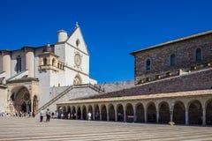 Basilica di San Francesco in Assisi, Italien Stockfotos