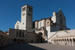 Basilica di San Francesco (St. Francis), Assisi, Umbria, Italy Royalty Free Stock Images