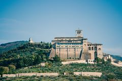 Basilica Di SAN Francesco (ST Francis), Assisi, Ουμβρία, Ιταλία Στοκ εικόνα με δικαίωμα ελεύθερης χρήσης