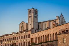 Basilica Di SAN Francesco (ST Francis), Assisi, Ουμβρία, Ιταλία Στοκ Εικόνες