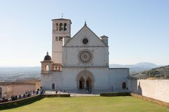Basilica di San Francesco (St Francis), Assisi, Ombrie, Italie Photos libres de droits
