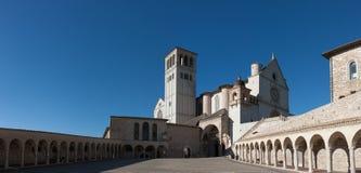 Basilica di San Francesco (St Francis), Assisi, Ombrie, Italie images stock