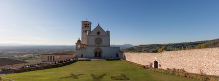 Basilica di San Francesco (St Francis), Assisi, Ombrie, Italie Photo stock