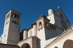 Basilica di San Francesco (St. Francis), Assisi, Umbria, Italy Stock Photography