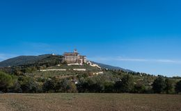 Basilica di San Francesco (St. Francis), Assisi, Umbria, Italy royalty free stock photography
