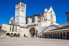 Basilica di San Francisco en Assisi, Italia Fotos de archivo