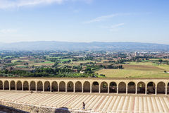 Basilica di San Francisco en Assisi, Italia Fotos de archivo libres de regalías