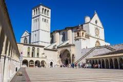 Basilica di San Francisco en Assisi, Italia Imagen de archivo