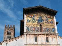 Basilica di San Frediano in Lucca - exterior view Royalty Free Stock Photos