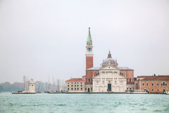 Basilica Di San Giogio Maggiore in Venice. Early in the morning Royalty Free Stock Photos