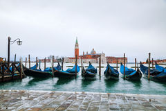 Basilica Di San Giogio Maggiore in Venice. Early in the morning Stock Photos