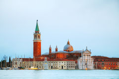 Basilica Di San Giorgio Maggiore in Venice. Early in the morning Royalty Free Stock Photos