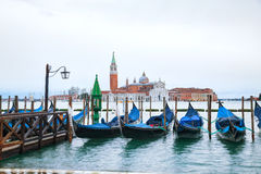 Basilica Di San Giorgio Maggiore in Venice. Early in the morning Royalty Free Stock Photo