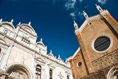 Basilica di San Giovani e Pablo en Venecia, Italia foto de archivo