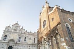 Basilica di San Giovani e Paolo and Scuola Grande di San Marco i Stock Images