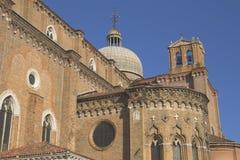 Basilica di San Giovani e Paolo. (Venedig) royaltyfria foton