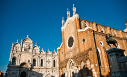 Basilica di San Giovani e Paolo a Venezia, Italia Immagini Stock