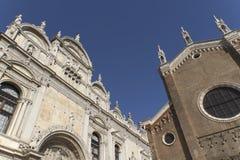 Basilica di San Giovani e Paolo (Venice, Italy). Basilica di San Giovani e Paolo and Scuola Grande di San Marco in Venice, Italy Stock Images