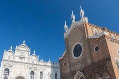 The Basilica di San Giovanni e Paolo and and the Scuole Grandi Stock Photo