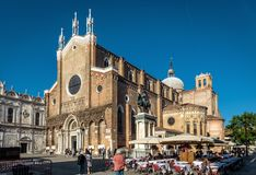 Basilica di San Giovanni e Paolo in Venice, Italy. Venice, Italy - May 21, 2017: The Basilica di San Giovanni e Paolo on sunny day royalty free stock photography