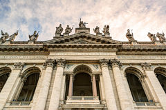Basilica di San Giovanni in Laterano in Rome. Basilica di San Giovanni in Laterano (Papal Archbasilica of St. John Lateran) in Rome, Italy.This basilica is the royalty free stock photos