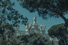 Basilica Di San Giovanni in Laterano ( St John Lateran ), the first Christian basilica constructed in Rome Stock Photo