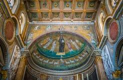 Basilica di San Marco vicino al palazzo di Venezia e di Campidoglio a Roma, Italia fotografie stock
