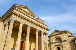 Basilica di San Marino and St. Peter Church Stock Photos