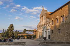 Basilica di San Miniato and a fragment of Palace of Bishops Royalty Free Stock Photography