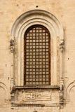 Basilica Di San Nicola .Bari. Apulia or Puglia. Italy. Detail of a window. Basilica Di San Nicola. Bari. Apulia or Puglia. Italy royalty free stock photography