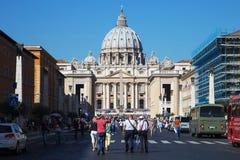 Basilica di San Pedro en Vaticano foto de archivo