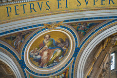 Basilica Di SAN Pietro Βατικανό στην καταπληκτική Ρώμη, Ιταλία Στοκ εικόνα με δικαίωμα ελεύθερης χρήσης